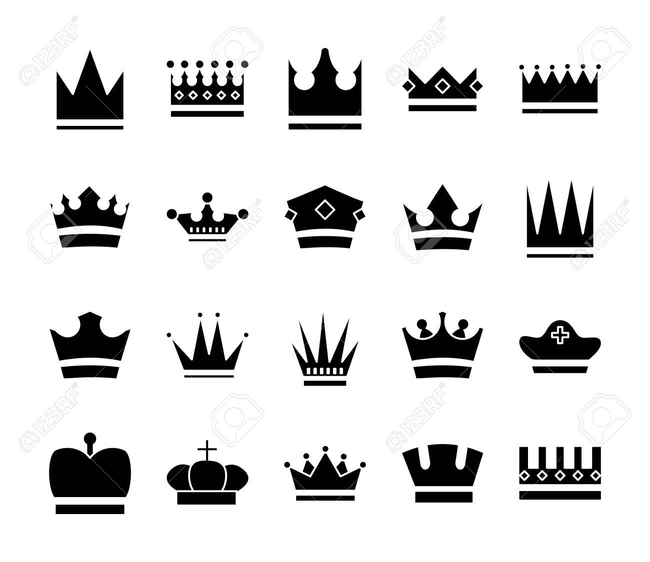 bundle of crowns royal set icons vector illustration design - 151014785