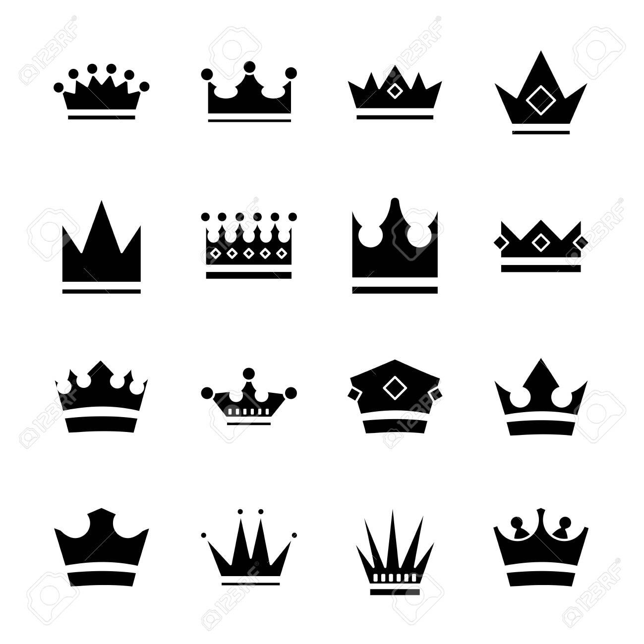 bundle of crowns royal set icons vector illustration design - 151041178