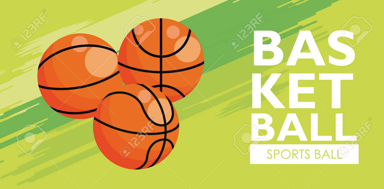 basketball sport balloons equipment icons vector illustration design - 152020756