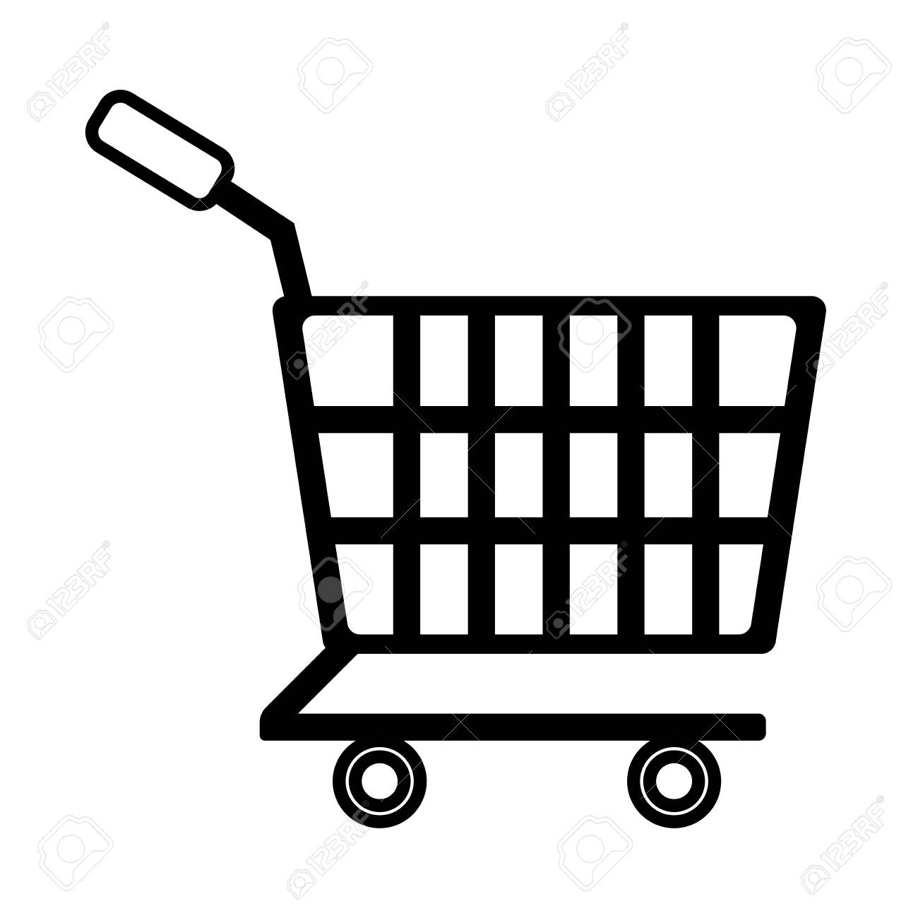 shopping cart line style icon vector illustration design - 153247888