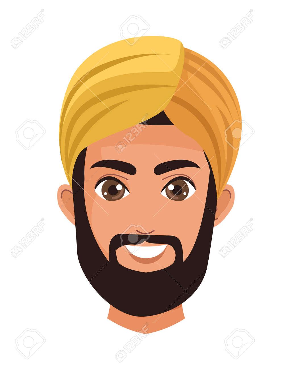 muslim head man golden - 169682284