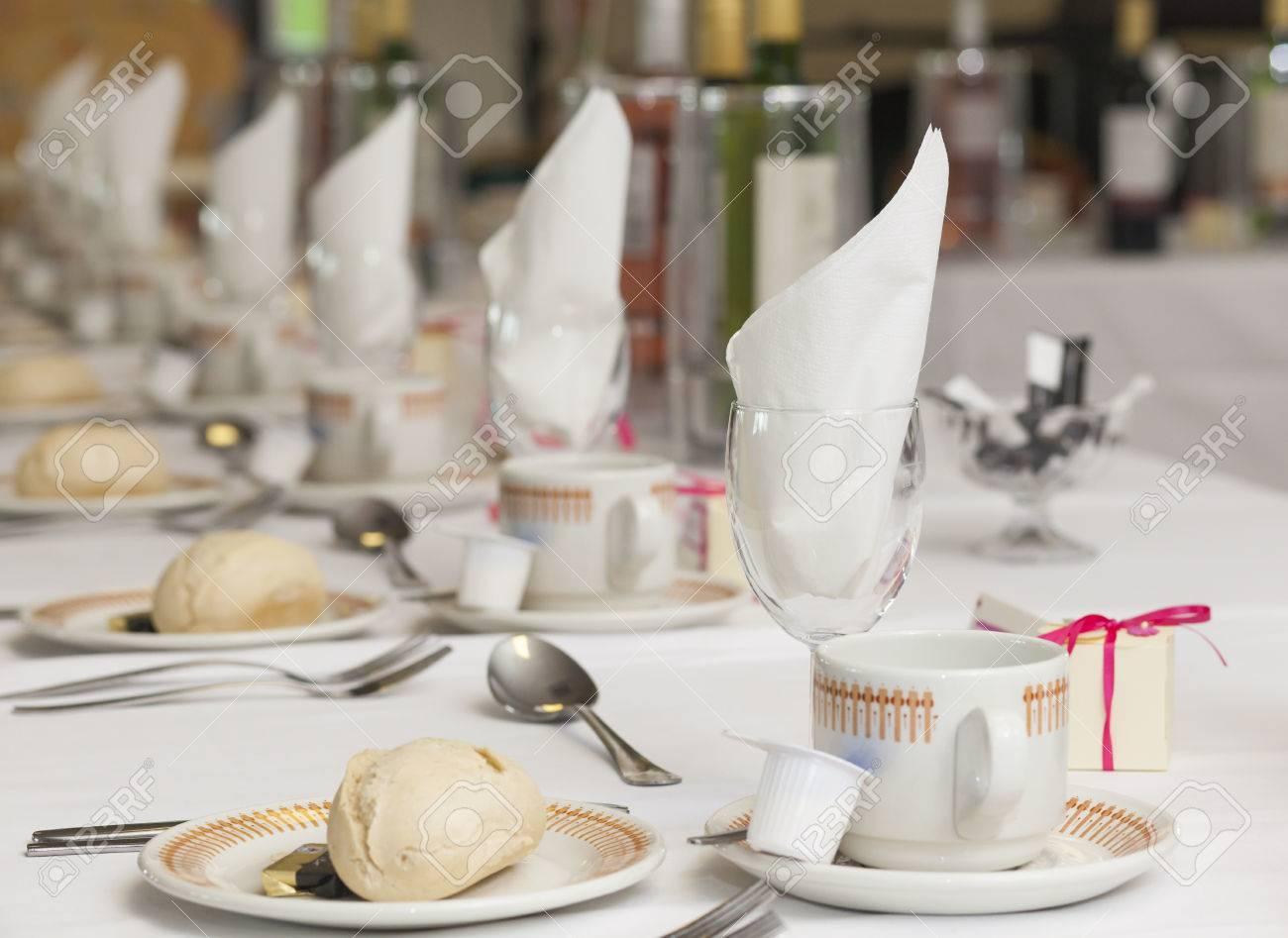 Restaurant table setting ideas - Restaurant Table Settings Stock Photo Wedding Breakfast Table Settings In Restaurant