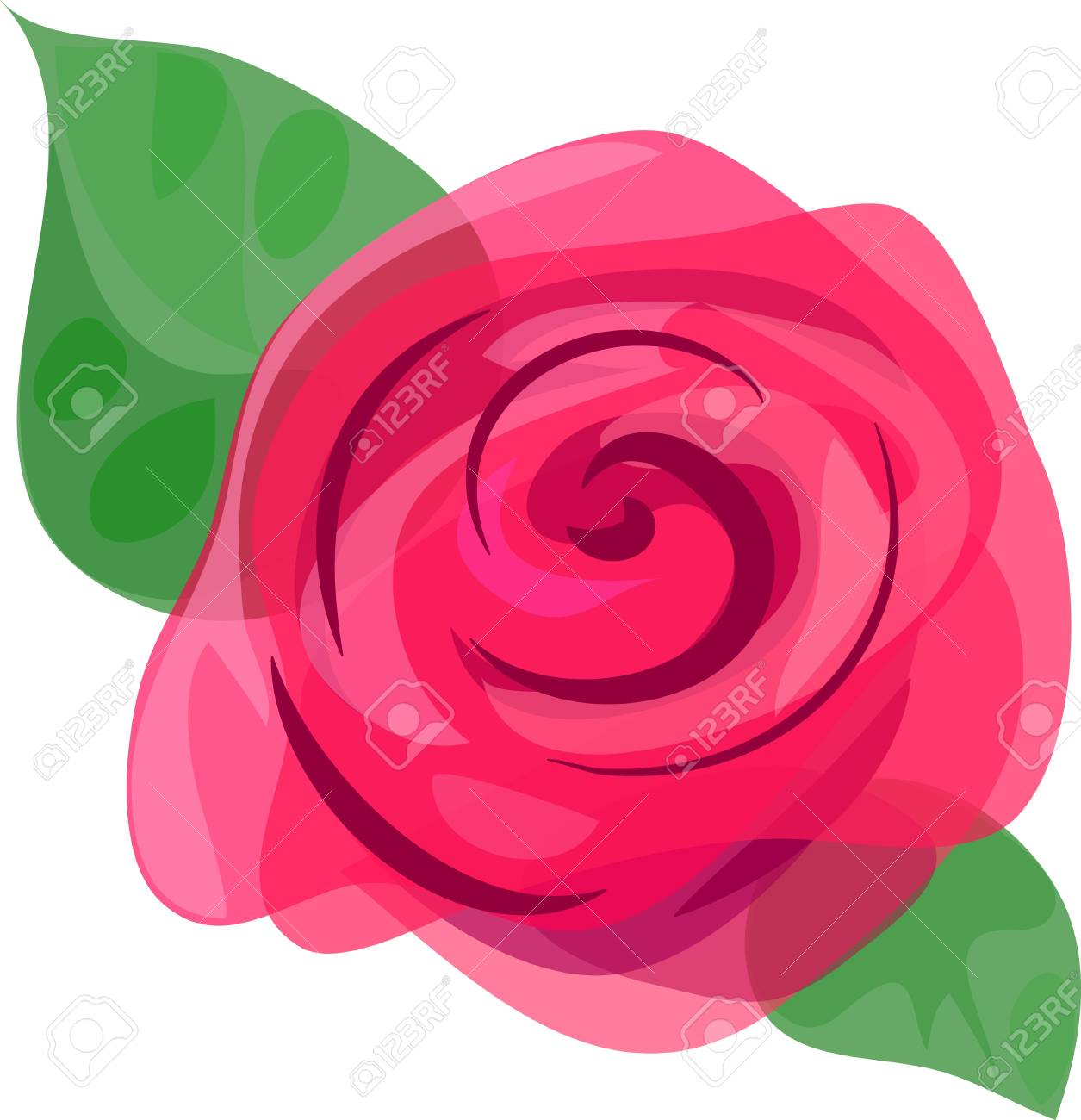 Beautiful picturesque rose Stock Vector - 12482488