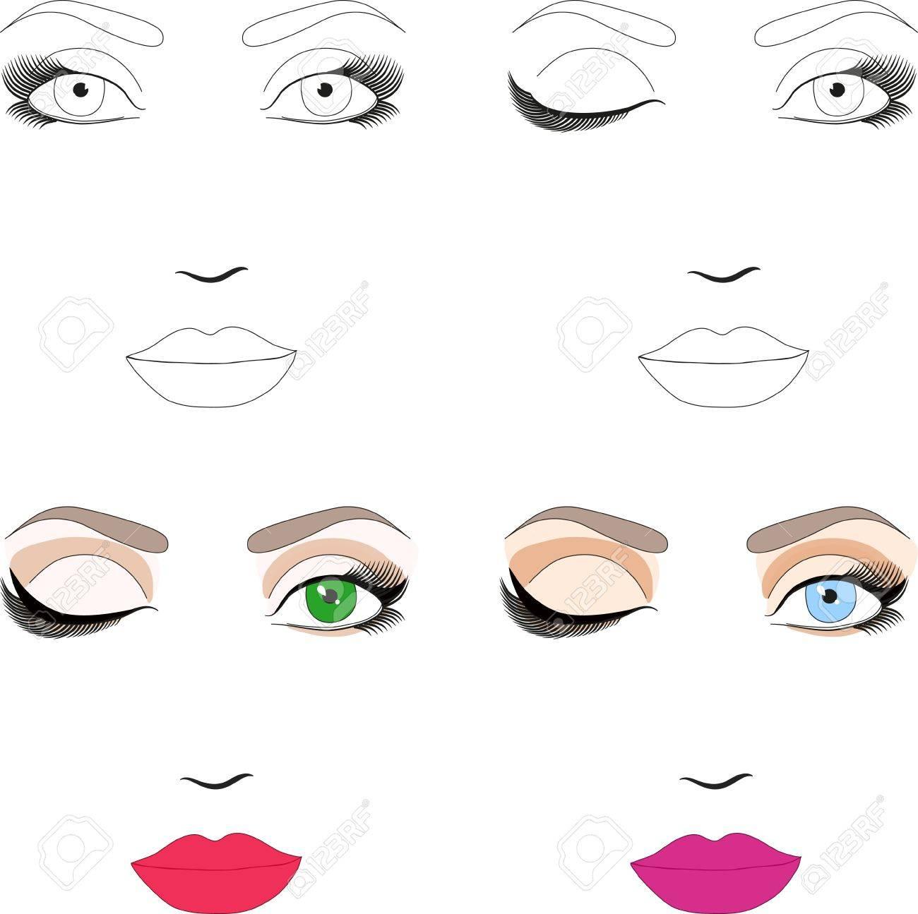 Шаблон трафарет для макияжа
