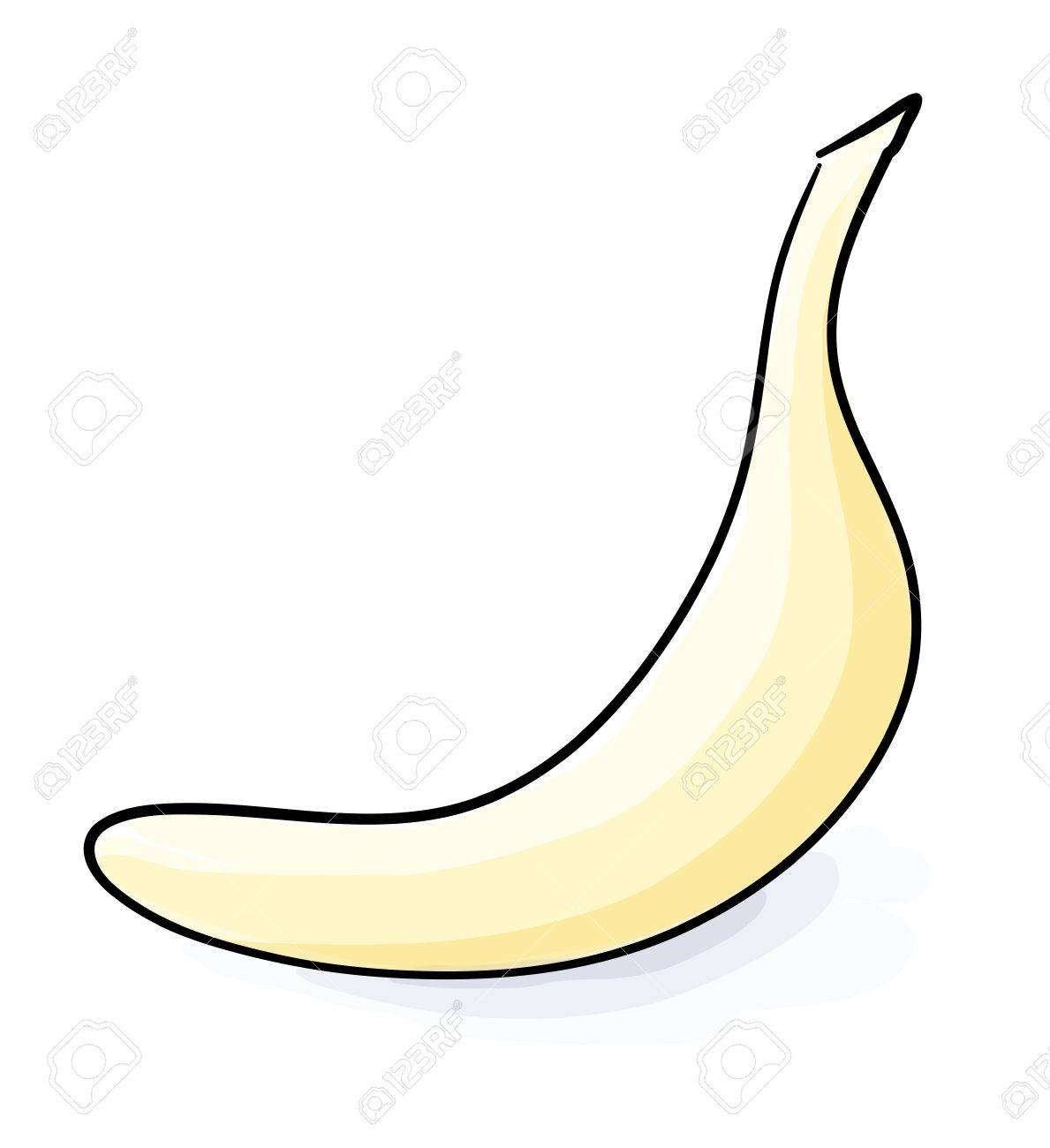 Eps 10 vector banana sketch in light colors Stock Vector - 14811378