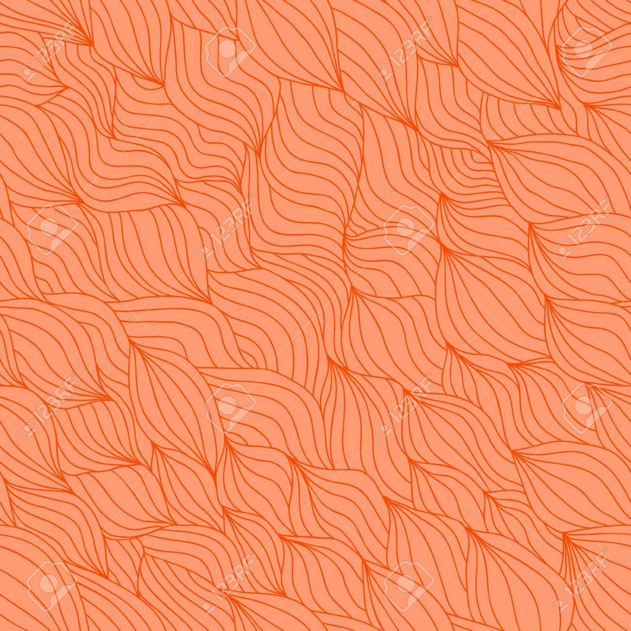 Artistic wavy hand drawn seamless pattern for your design  Saffron yellow variant Stock Vector - 16710478