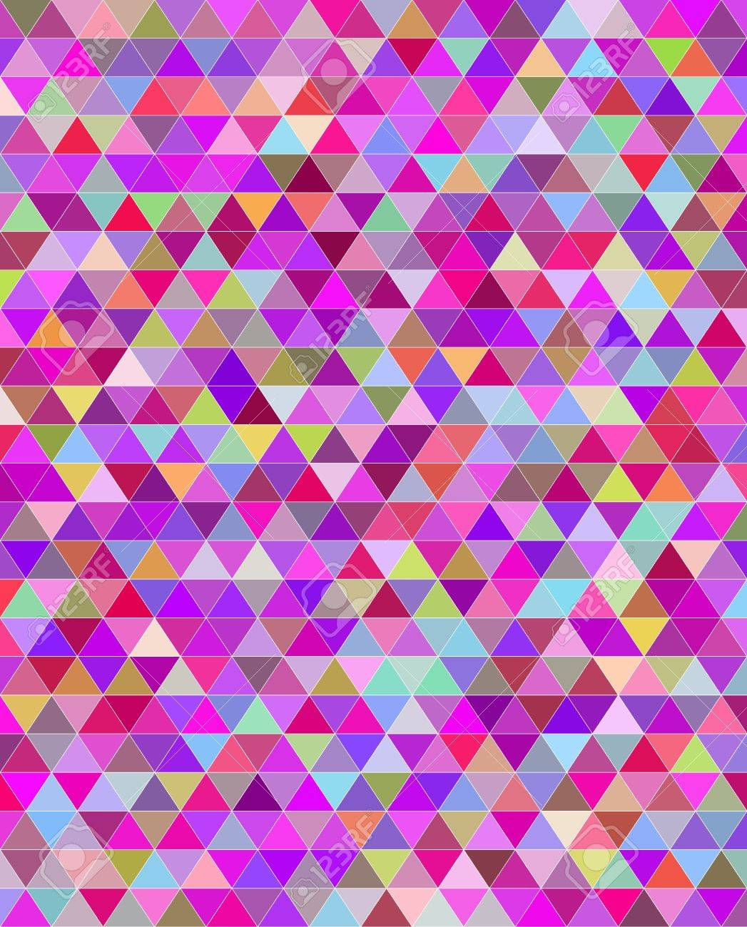 Bright colorful abstract seamless pattern. Random triangles. Stock Vector - 22142750