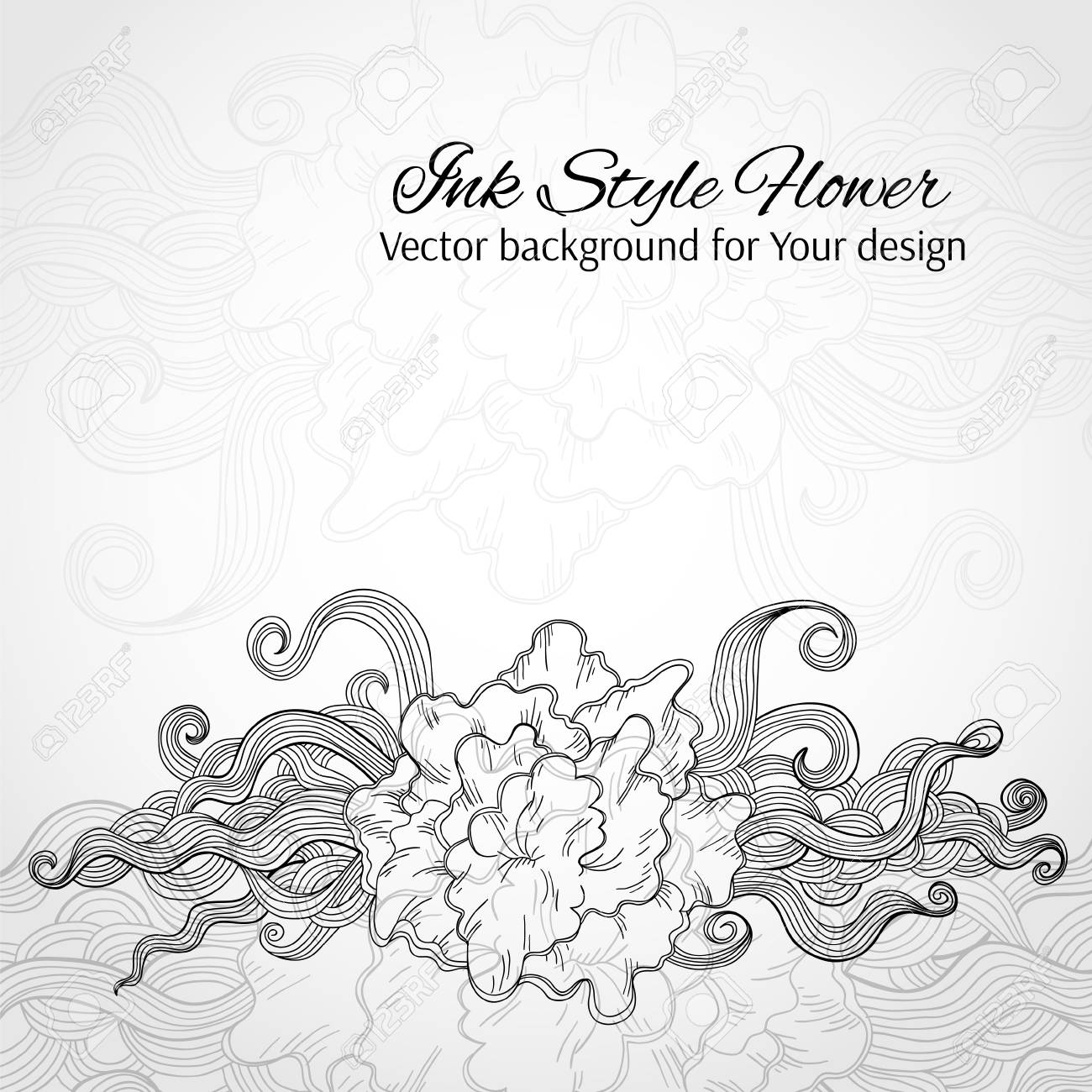 Doodle stylized flower. Abstract vector background for Your design Stock Vector - 23349283