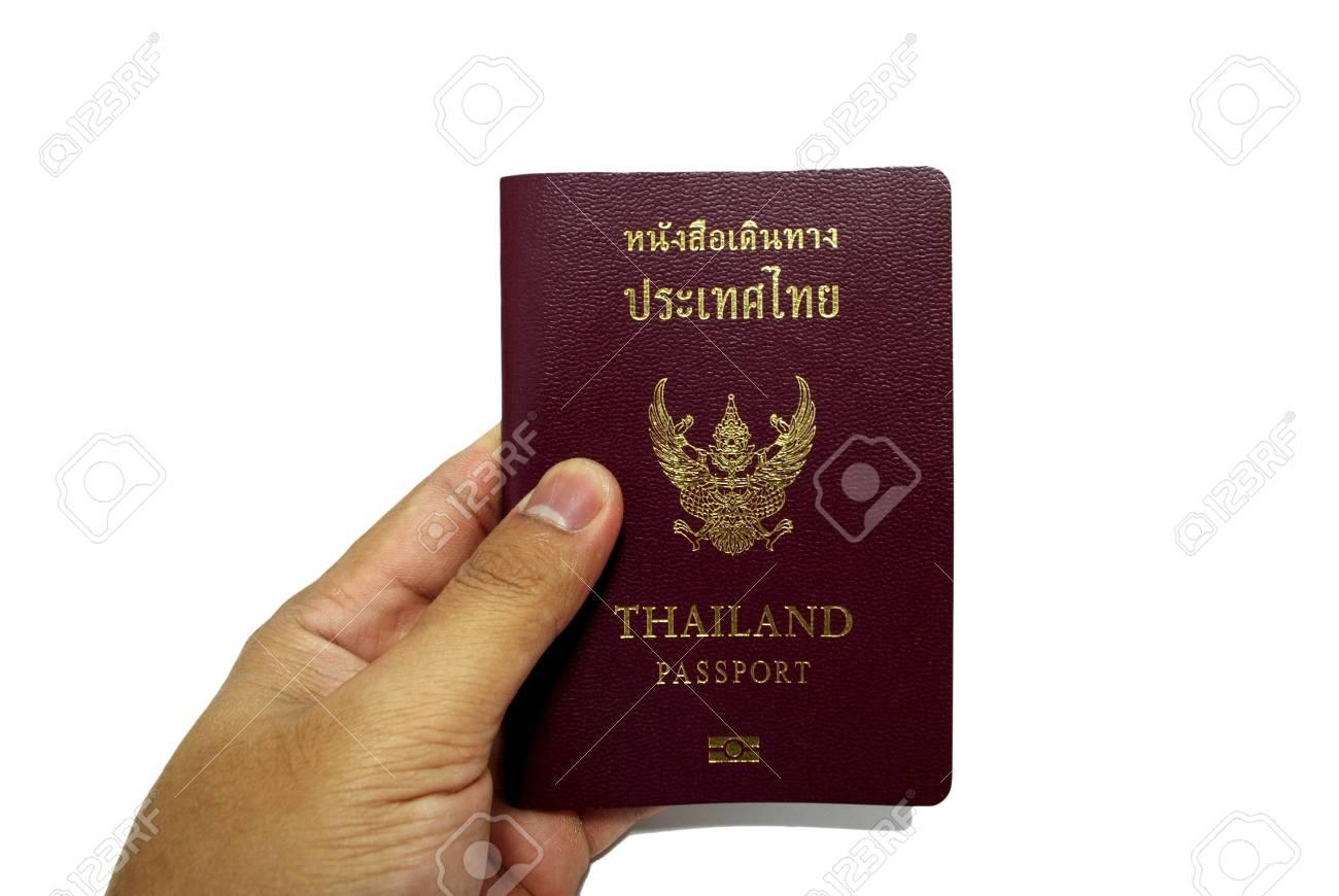hand and passport isolated white Stock Photo - 13724007