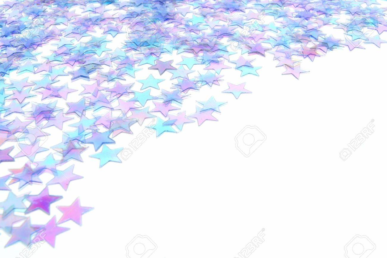 blue star confetti new years eve or winter border stock photo 11255459
