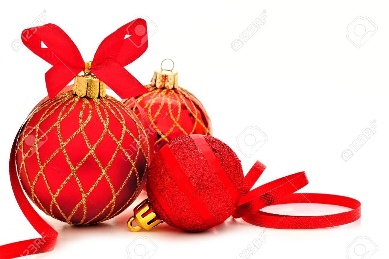 Rote Christbaumkugeln.Stock Photo