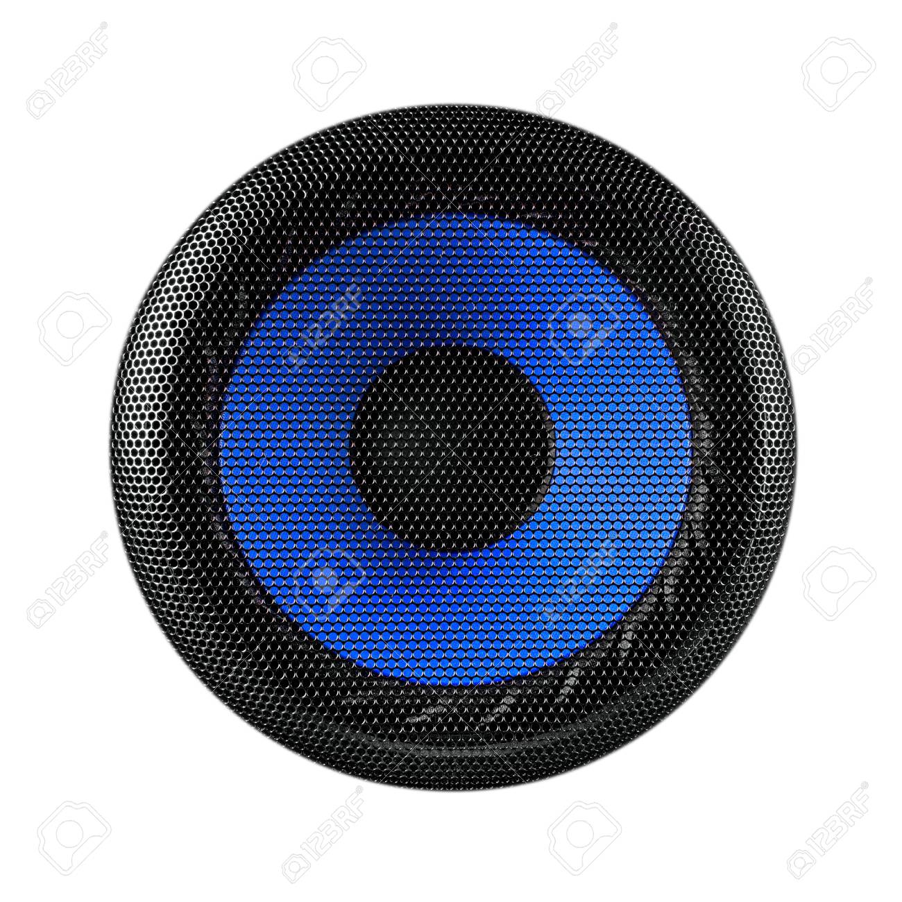 Blue and black speaker sub woofer isolated on white Stock Photo - 27064434