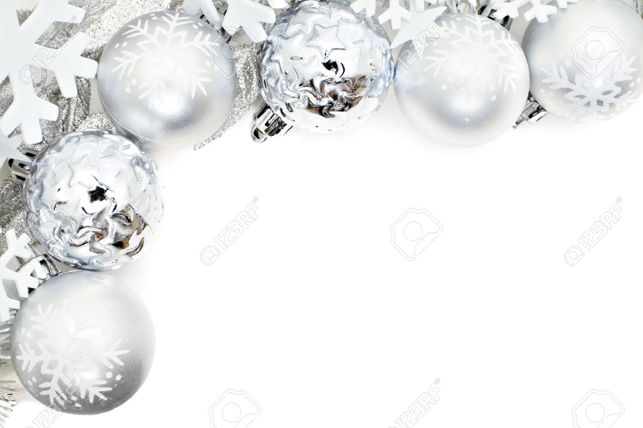 Weihnachtseckrand Der Schneeflocken Und Des Silbernen Flitters über ...