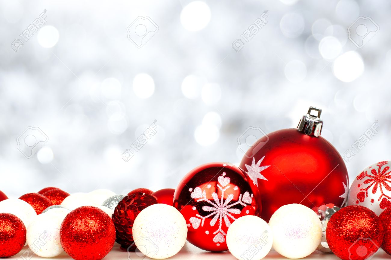 Christmas Ornaments Background Merry And Happy New Year 2018