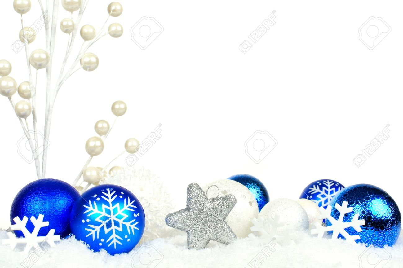 blue ornaments