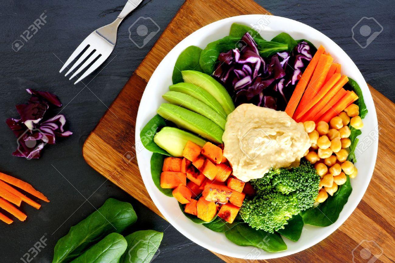 Gesundes Mittagessen Schüssel Mit Super-Lebensmittel Und Frisches ...