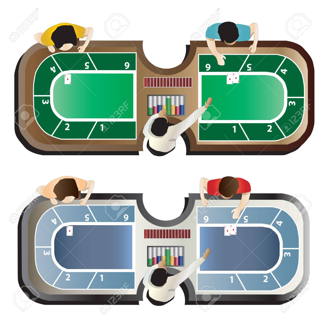 Casino furniture Baccarat table top view set 4 for interior vector illustration Stock Vector  sc 1 st  123RF.com & Casino Furniture Baccarat Table Top View Set 4 For Interior ...