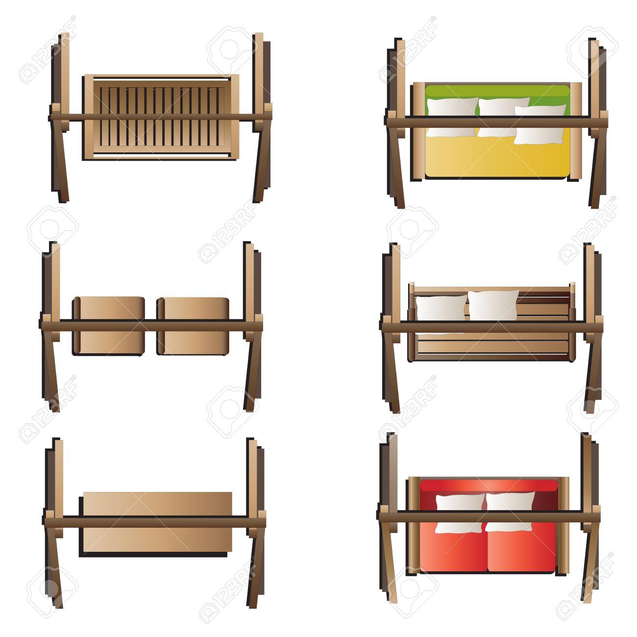 Outdoor Furniture Swing Set Top View Set 7 For Landscape Design