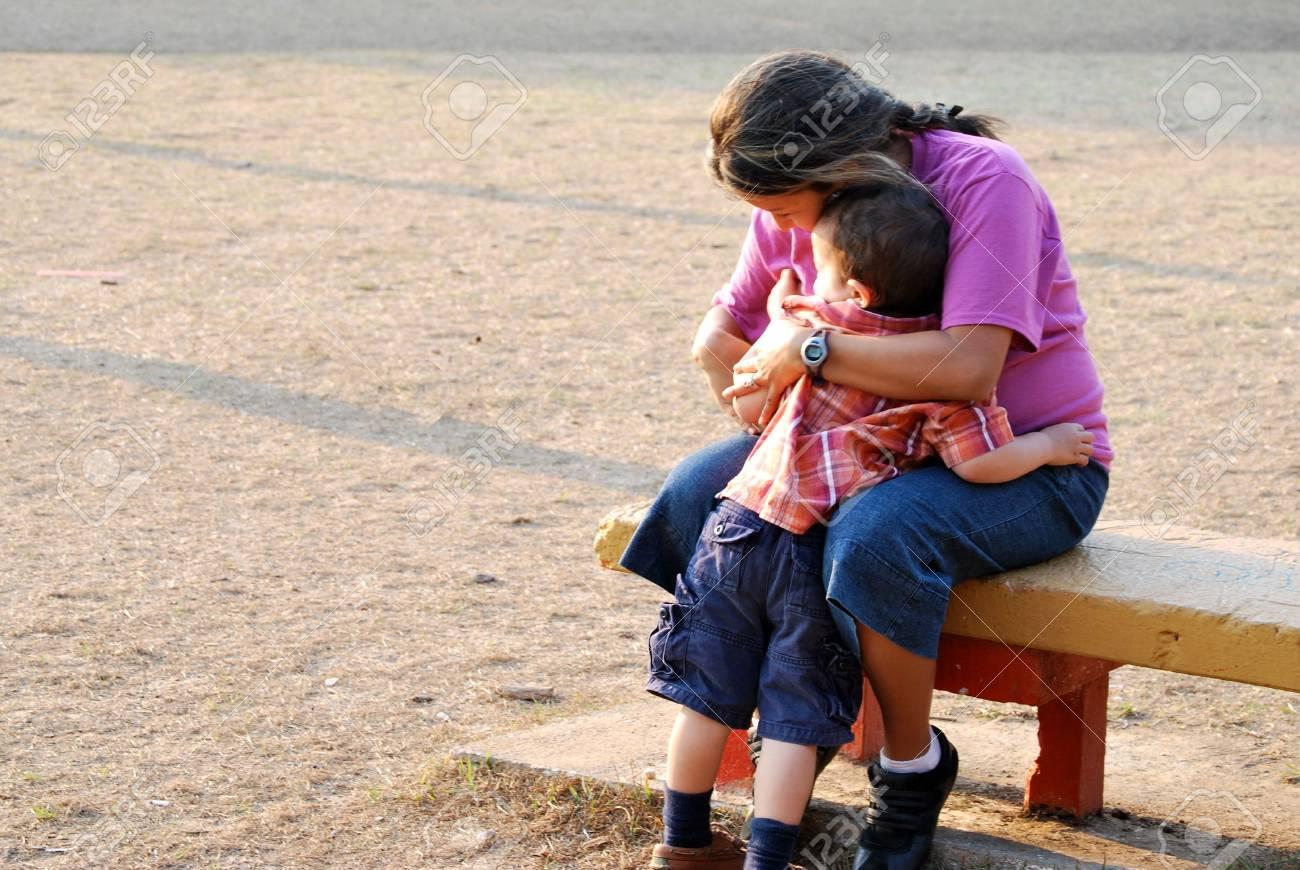Hispanic Mother and Son Stock Photo - 4660613
