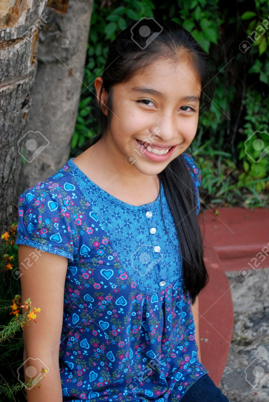 preteen nudism ten year old: Beautiful Hispanic girl