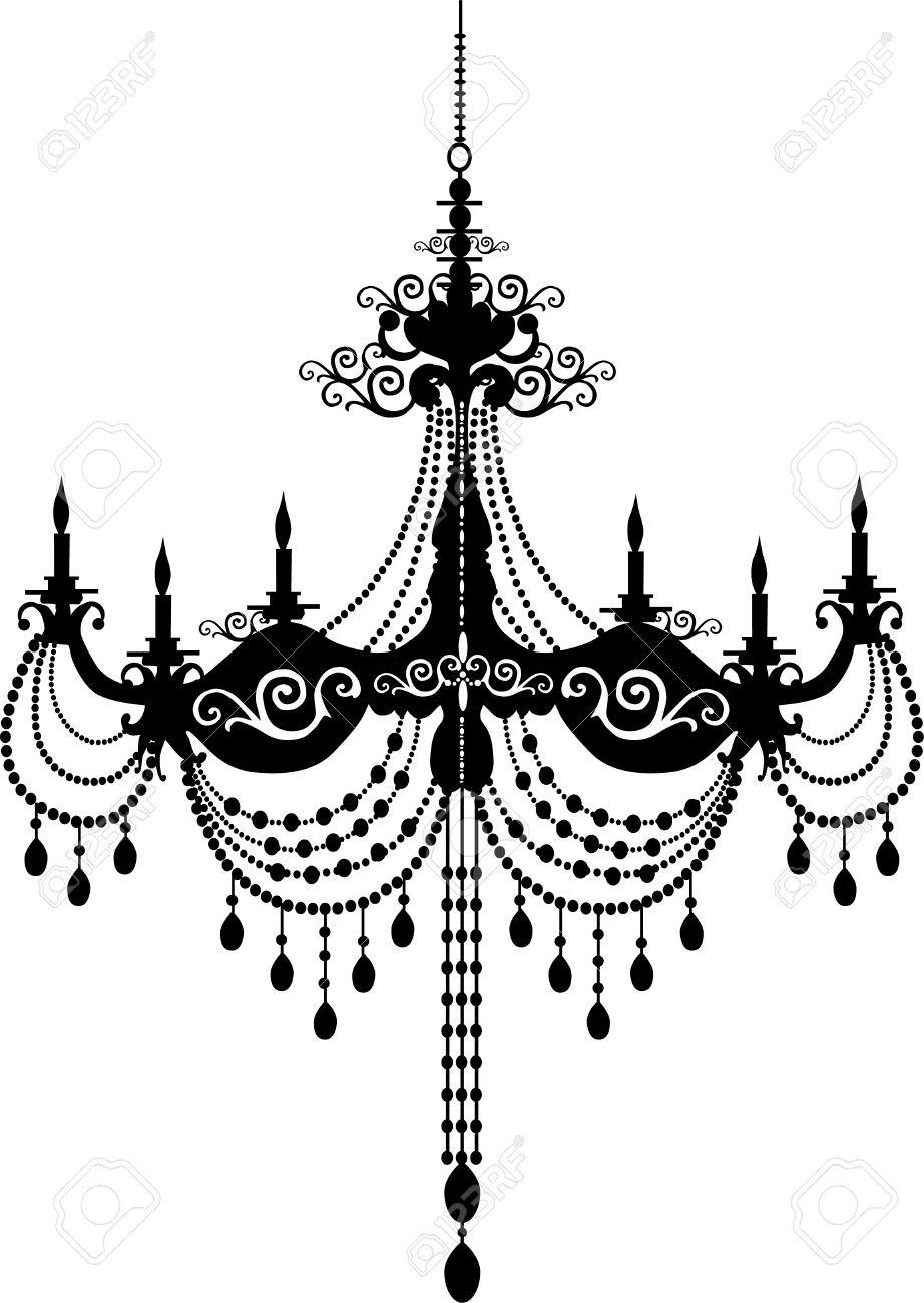 Retro chandelier silhouette royalty free cliparts vectors and retro chandelier silhouette stock vector 31293934 aloadofball Gallery