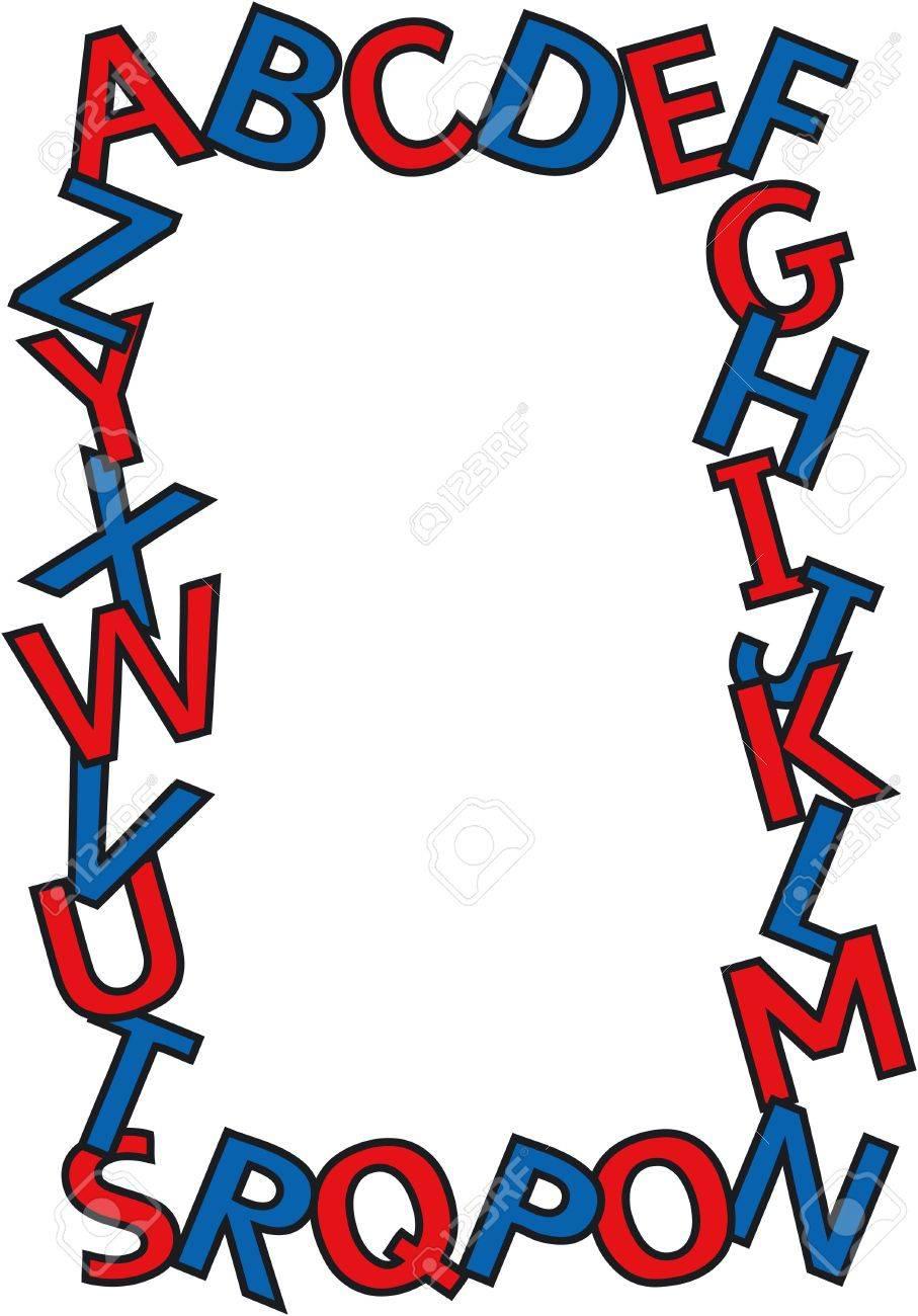 Alphabet border with copy space Stock Photo - 351430
