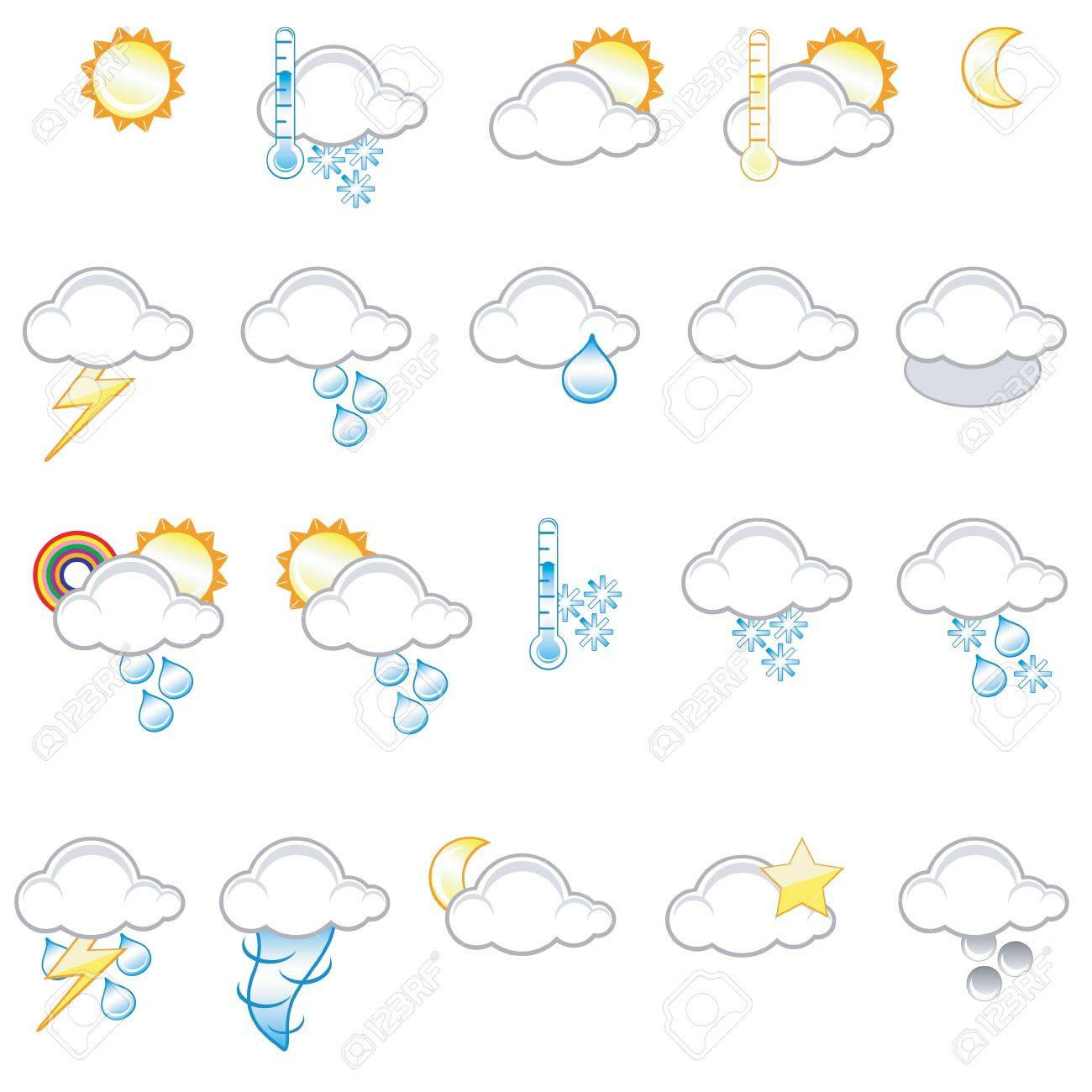 Set of different weather icons Stock Photo - 1334630