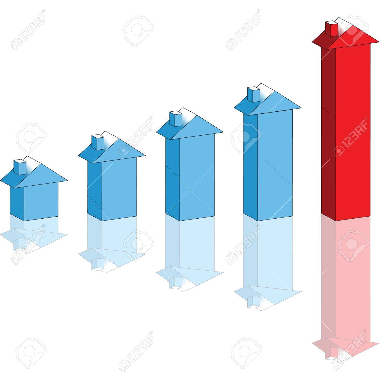 growing house prices graph stock photo, picture and royalty free