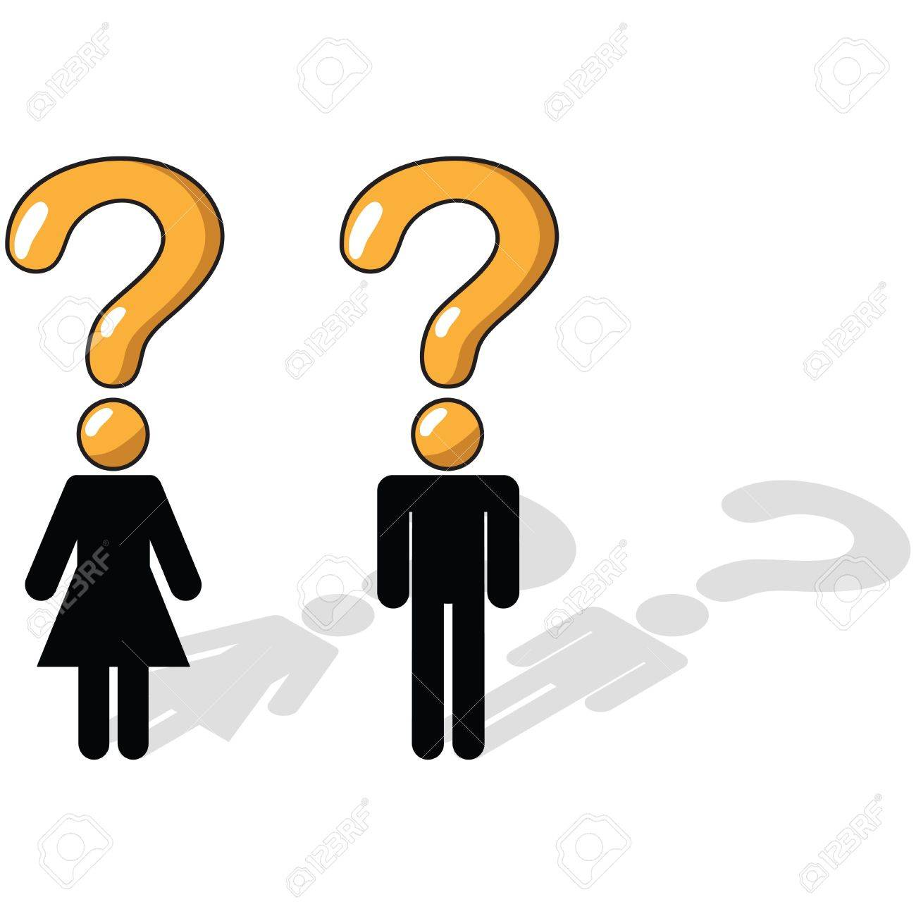 Business Concept - Questioning, uncertainty, unsure Stock Photo - 2734424