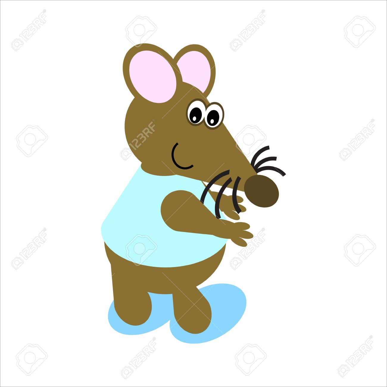 Cartoon of a happy, dancing mouse Stock Photo - 4998195