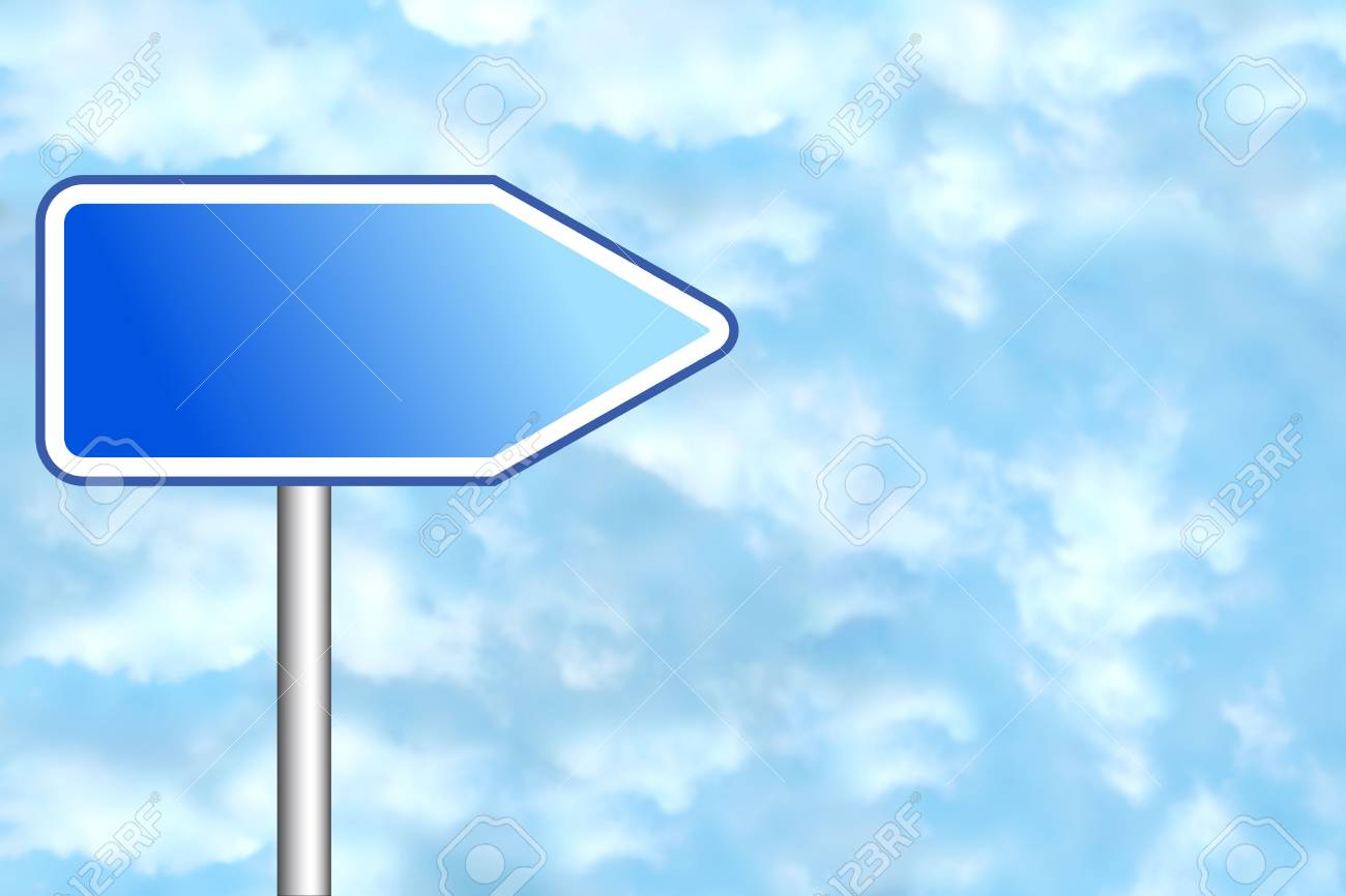 Blank road sign for your own text Stock Photo - 4998206