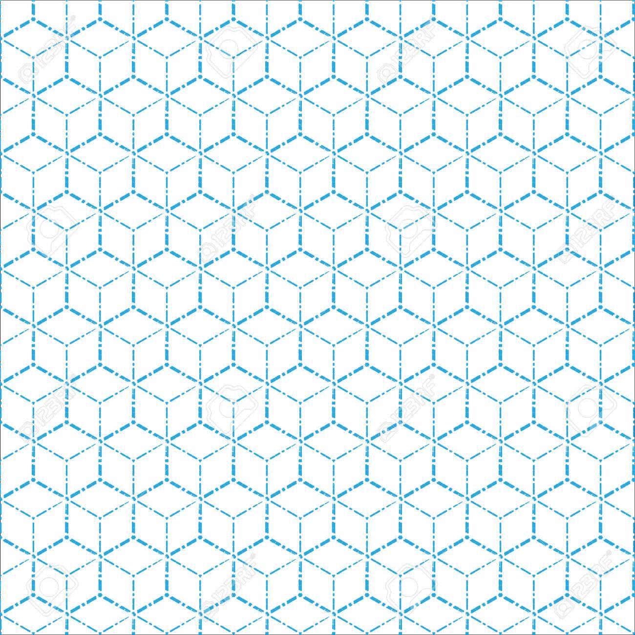 Azul Línea De Puntos Patrón De Fondo Ilustración Imagen Geométrica ...
