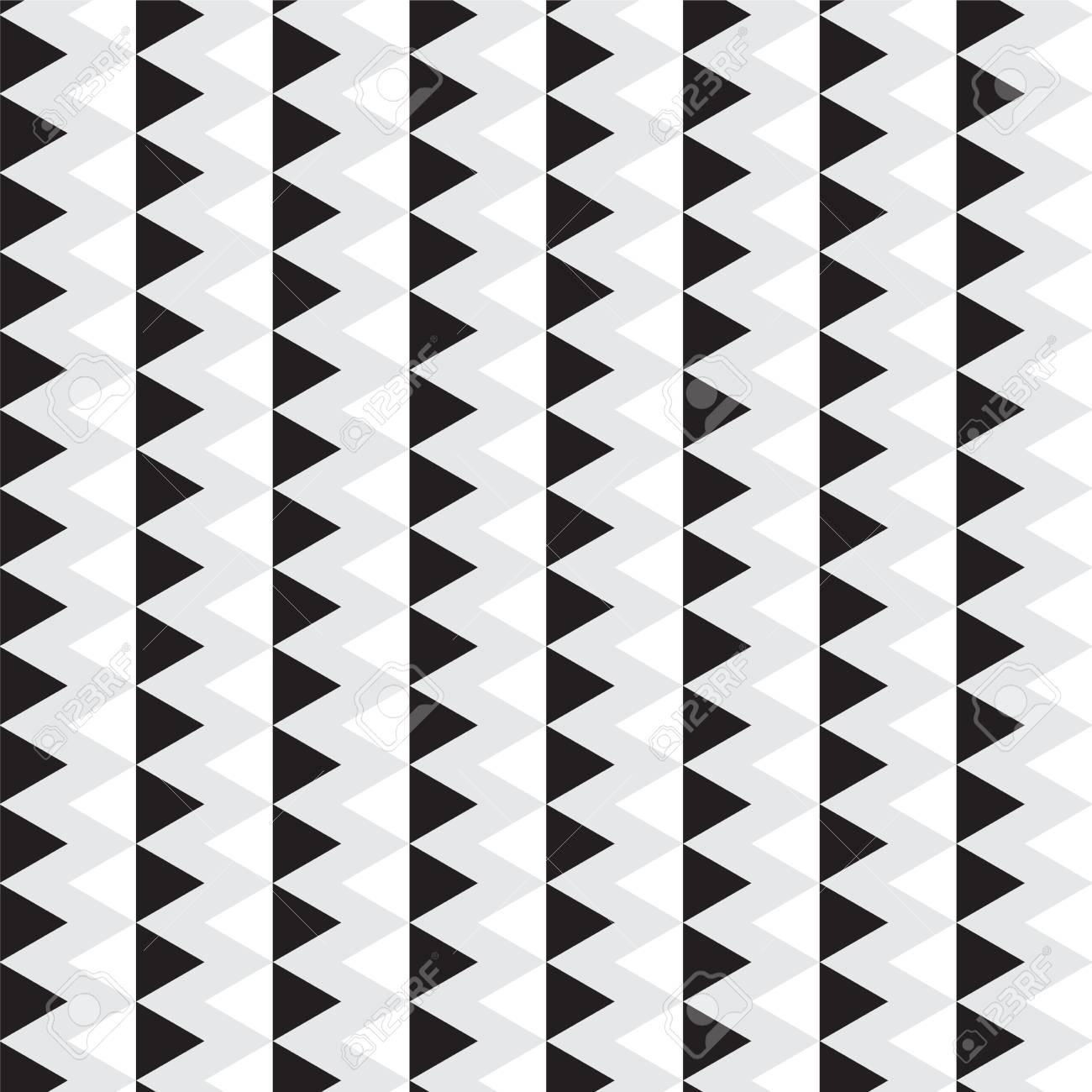 Triángulo Blanco Y Negro Con Imagen De Ilustración De Vector De ...