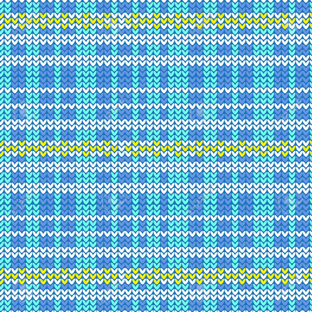 Blue Shade And White Plaid With Yellow Diamond Shape Striped ...