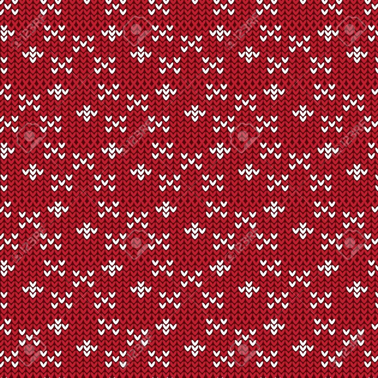 Rojo Y Blanco Cruz Signo Y Forma De Diamante Tejido De Patrón De ...