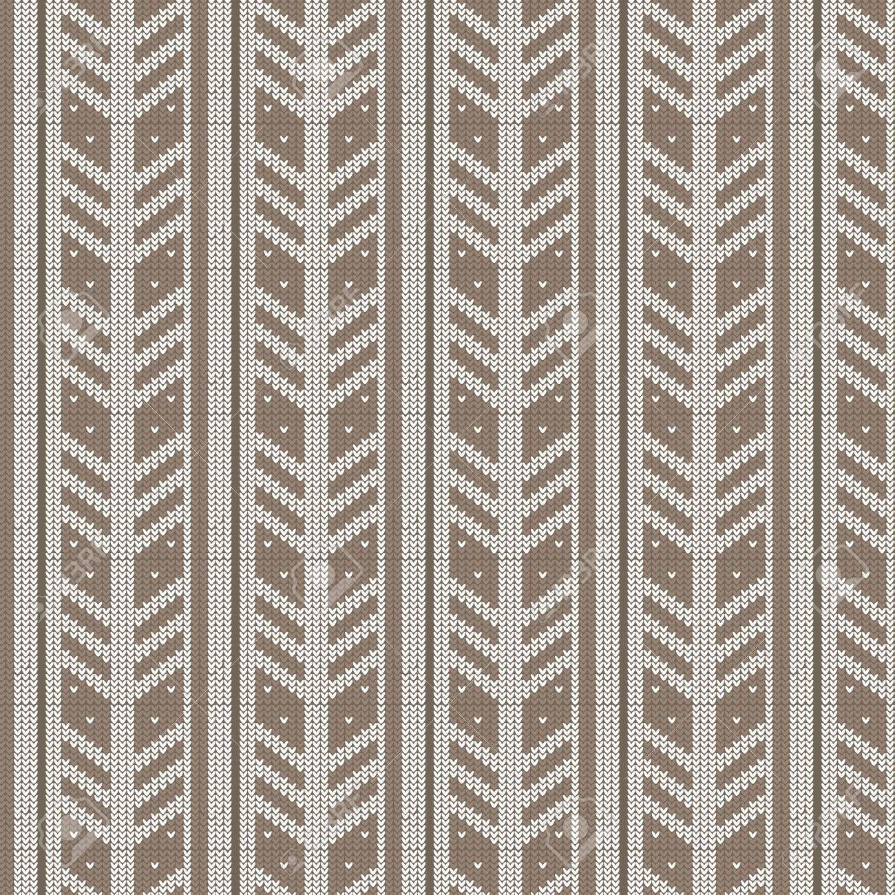 Brown Shade And White Feather Shape Vertical Striped With Spot