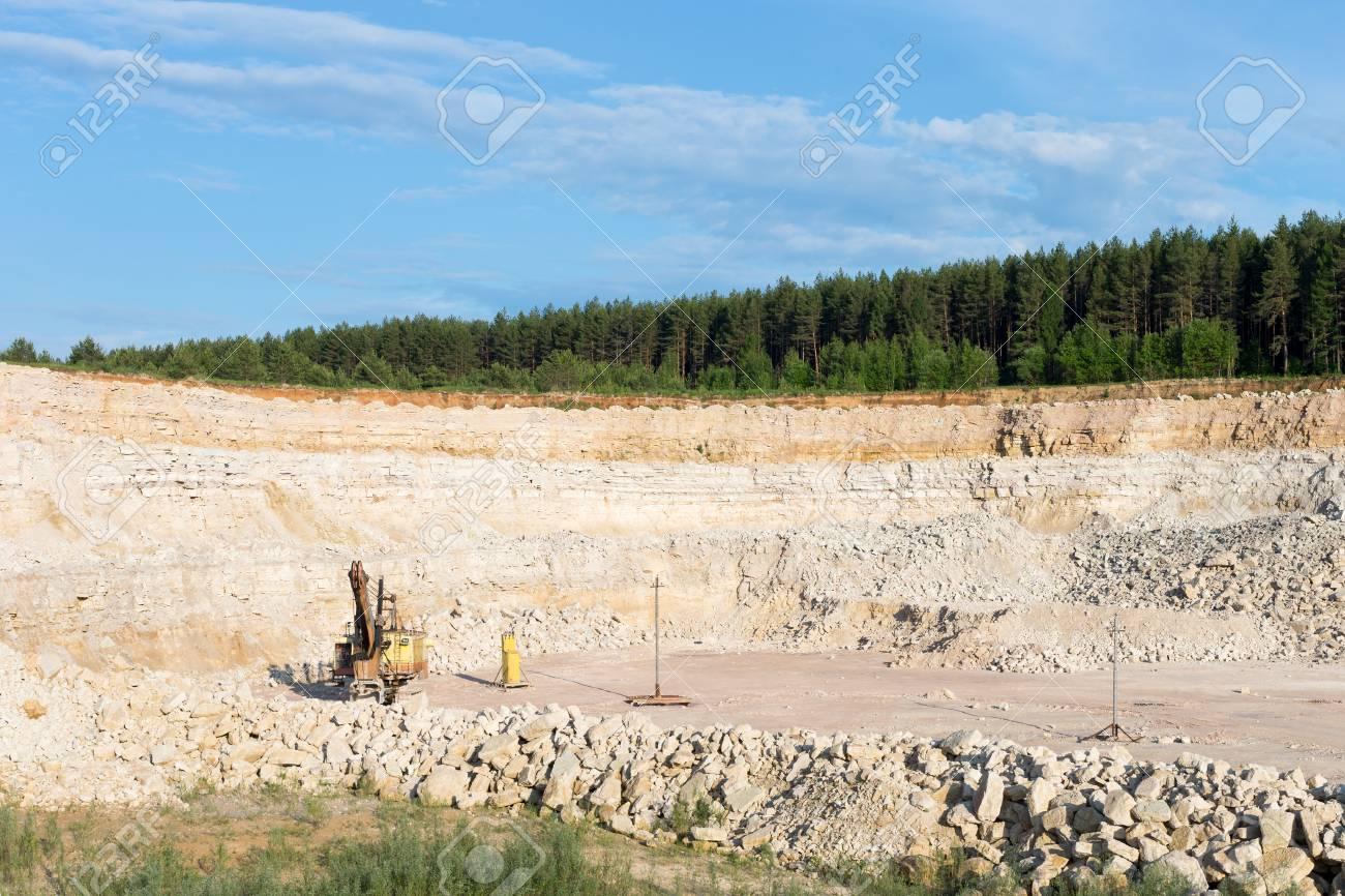 Limestone mining development area