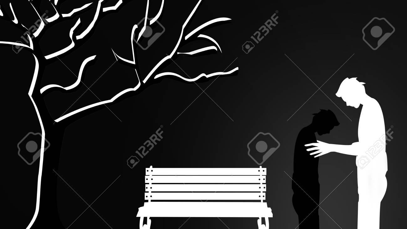 男性の壁紙は悲しく 孤独ですが彼自身すぐに他の良いパスに触れるし