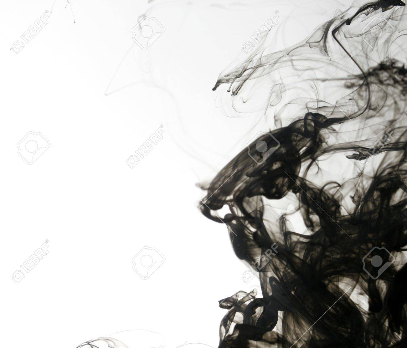 Indian ink in water with a white back ground. Stock Photo - 8102316