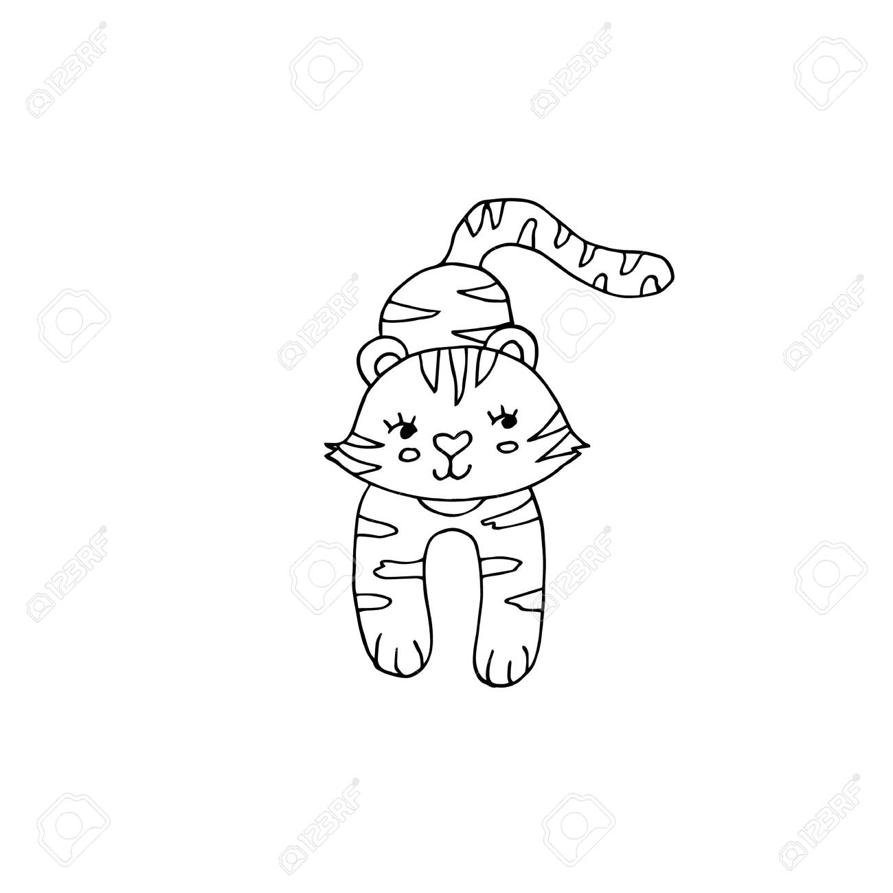 Cute Tiger Coloring Pages - GetColoringPages.com   1300x1300