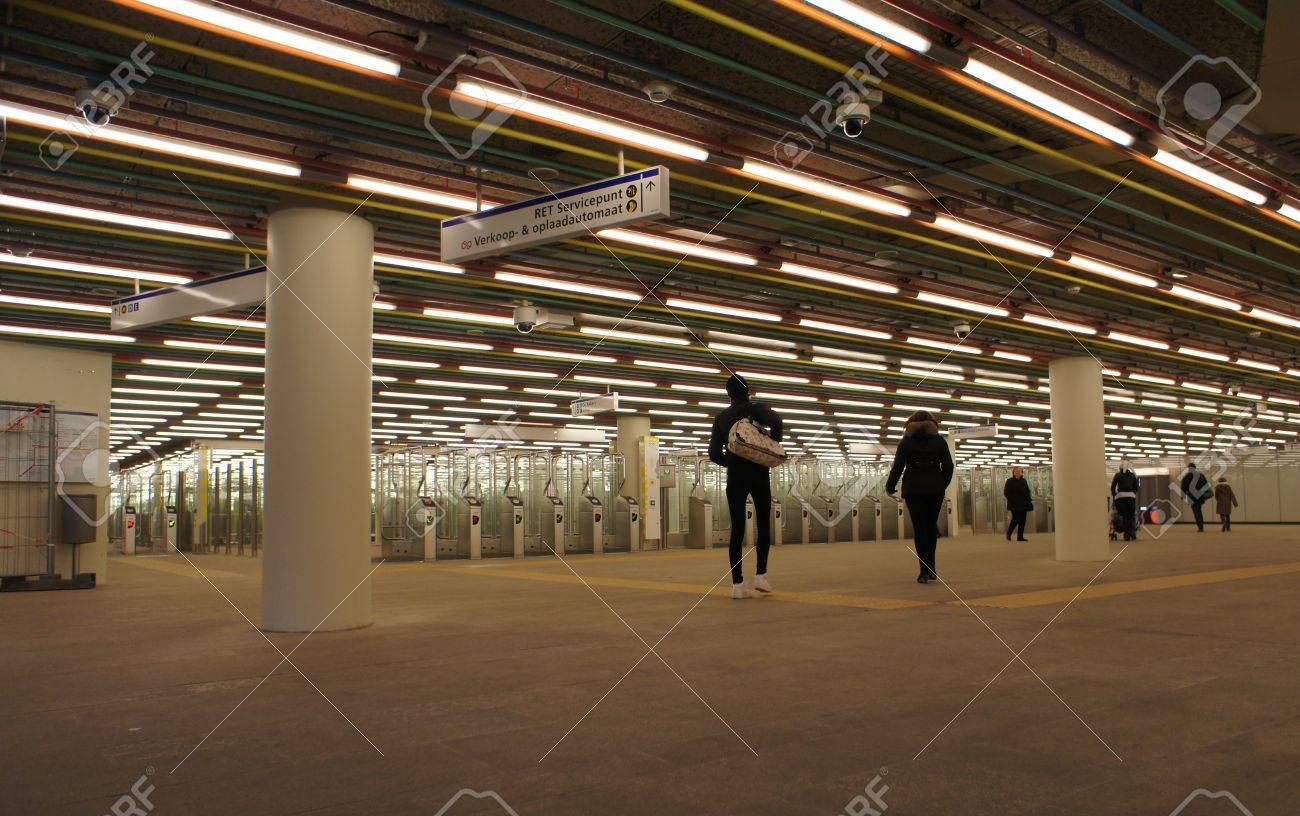 Subway station Rotterdam Stock Photo - 16943081