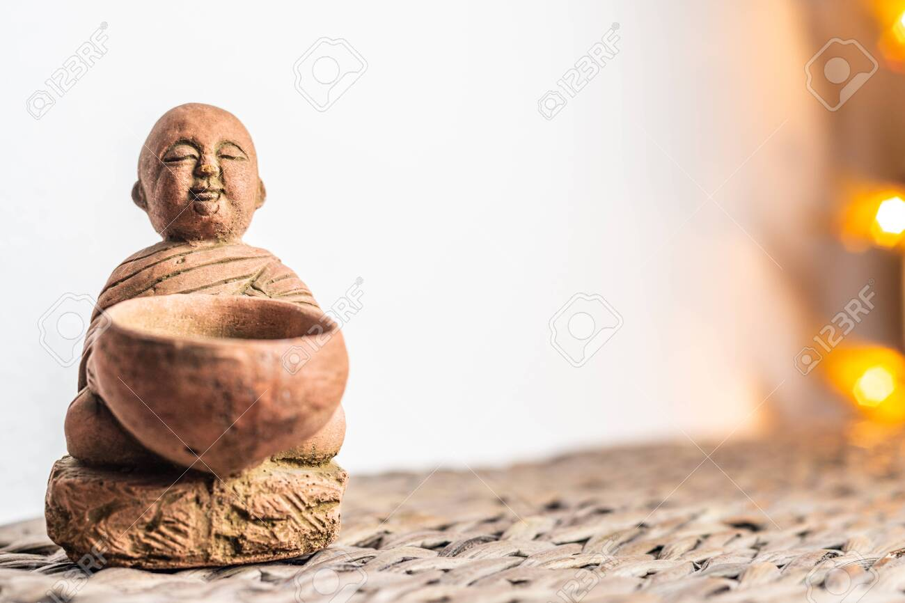 Miniature Monk Statue Illuminated Background Home Ornament Stock Photo Picture And Royalty Free Image Image 133628561