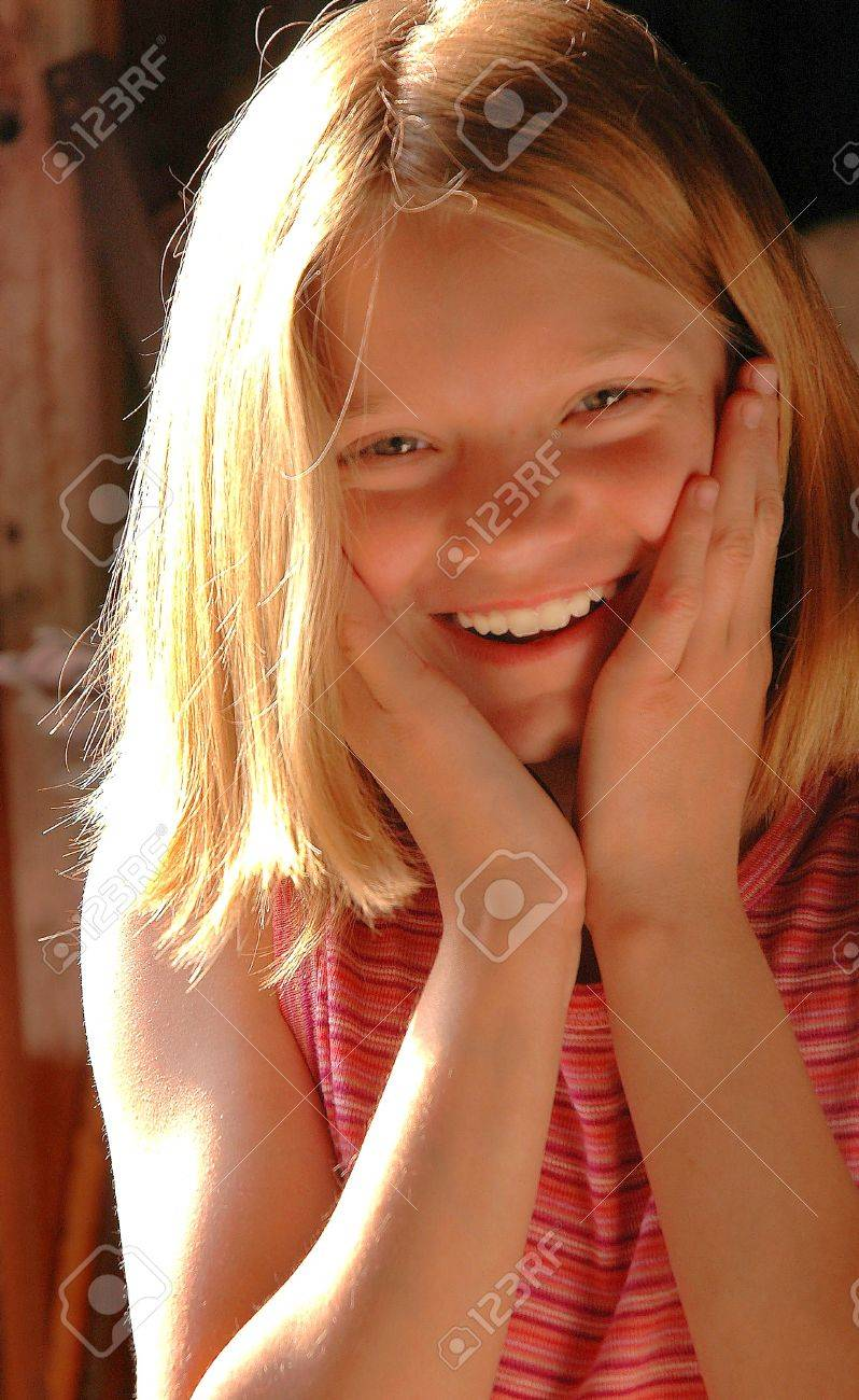 Happy Girl Outdoors in Summer Stock Photo - 15934884