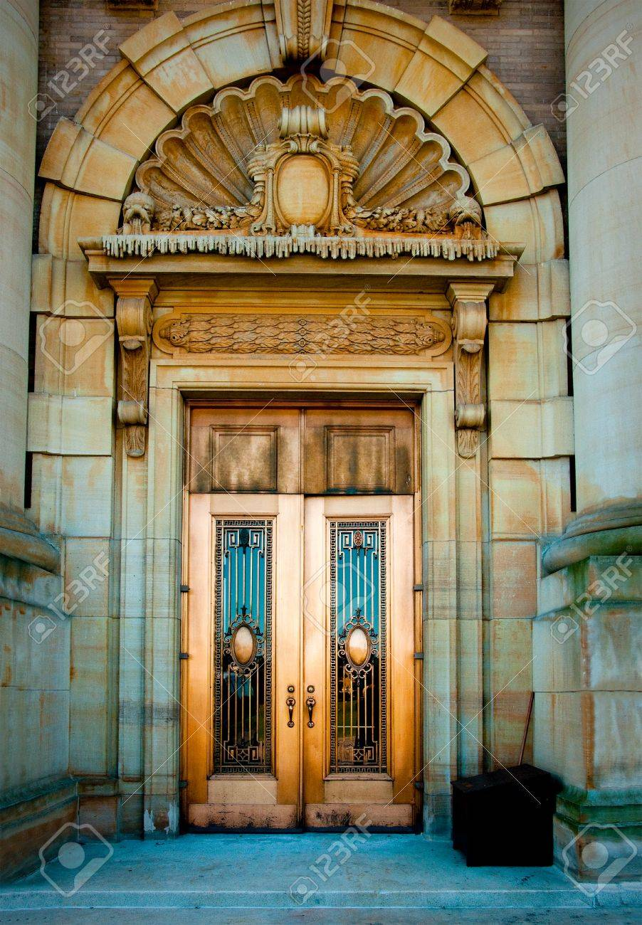 fancy architectural doors stock photo, picture and royalty free