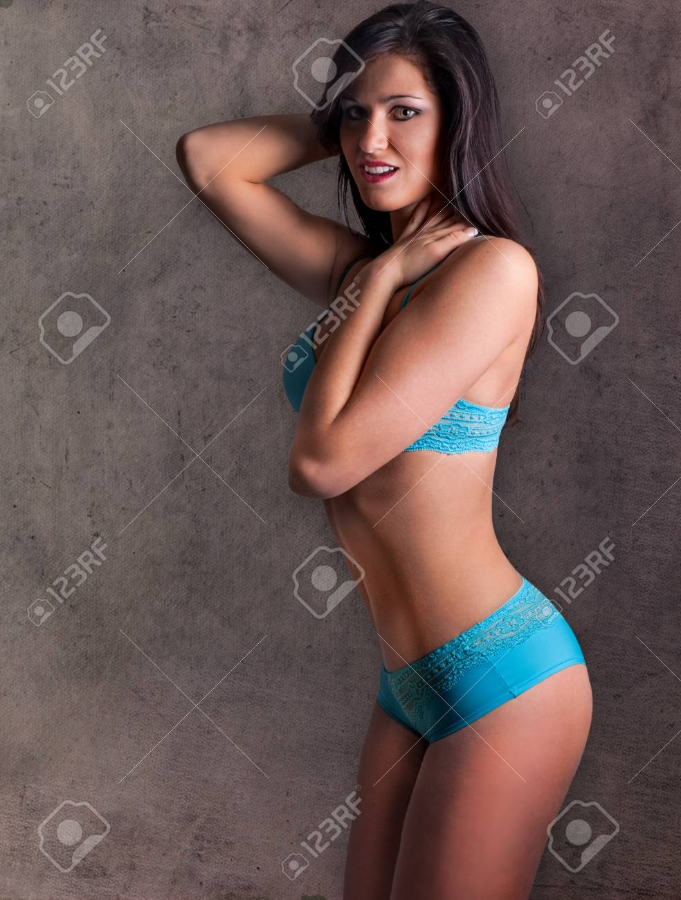 d87df74f13 Fitness girl wearing sexy blue underwear stock photo picture jpg 984x1300 Blue  lingerie models fitness