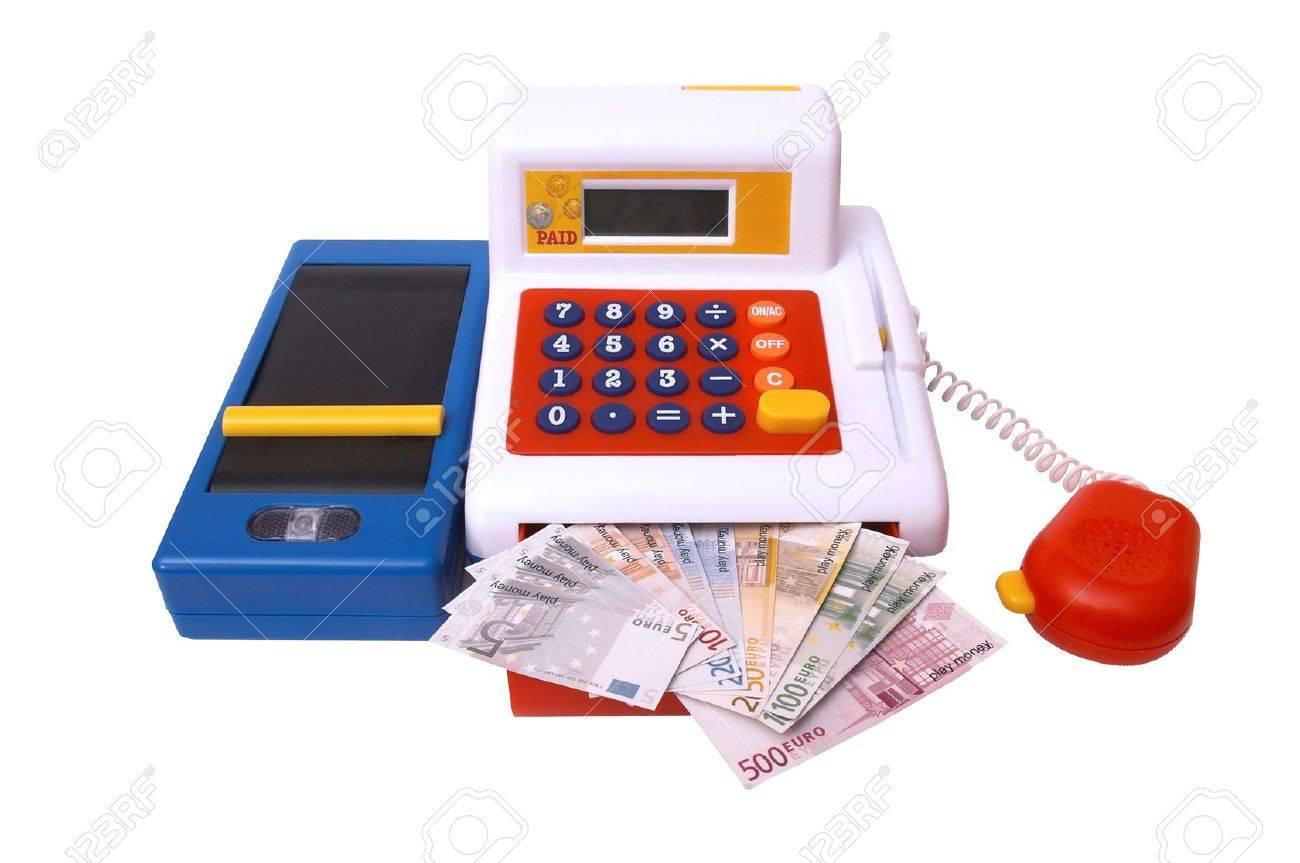 isolated, white, background, money, kasse Stock Photo - 2846911