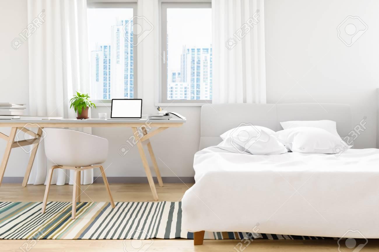 Le moderne de la chambre à coucher loft ancien design en béton