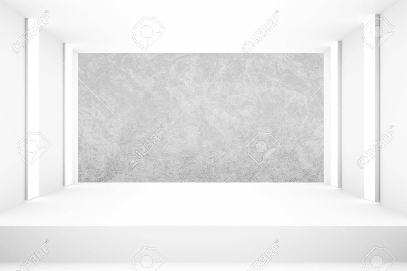 white empty room with stage for backdrop design template pr blank