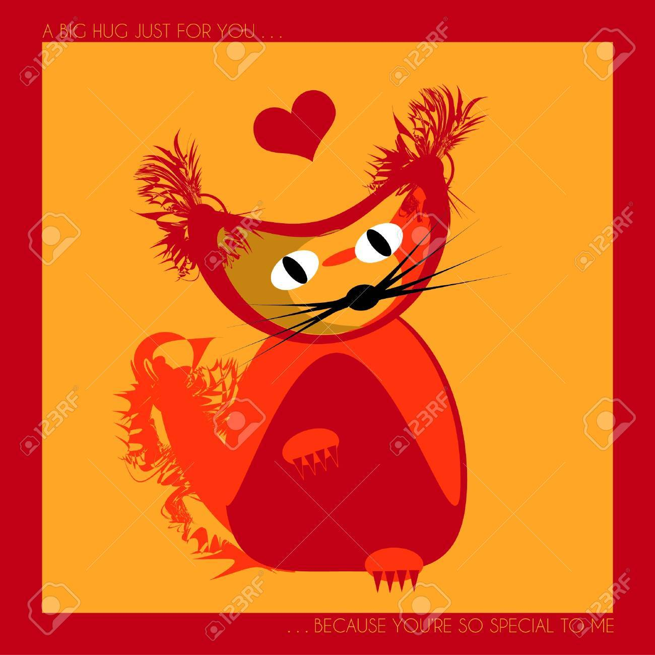Image result for a great big hug cat clipart