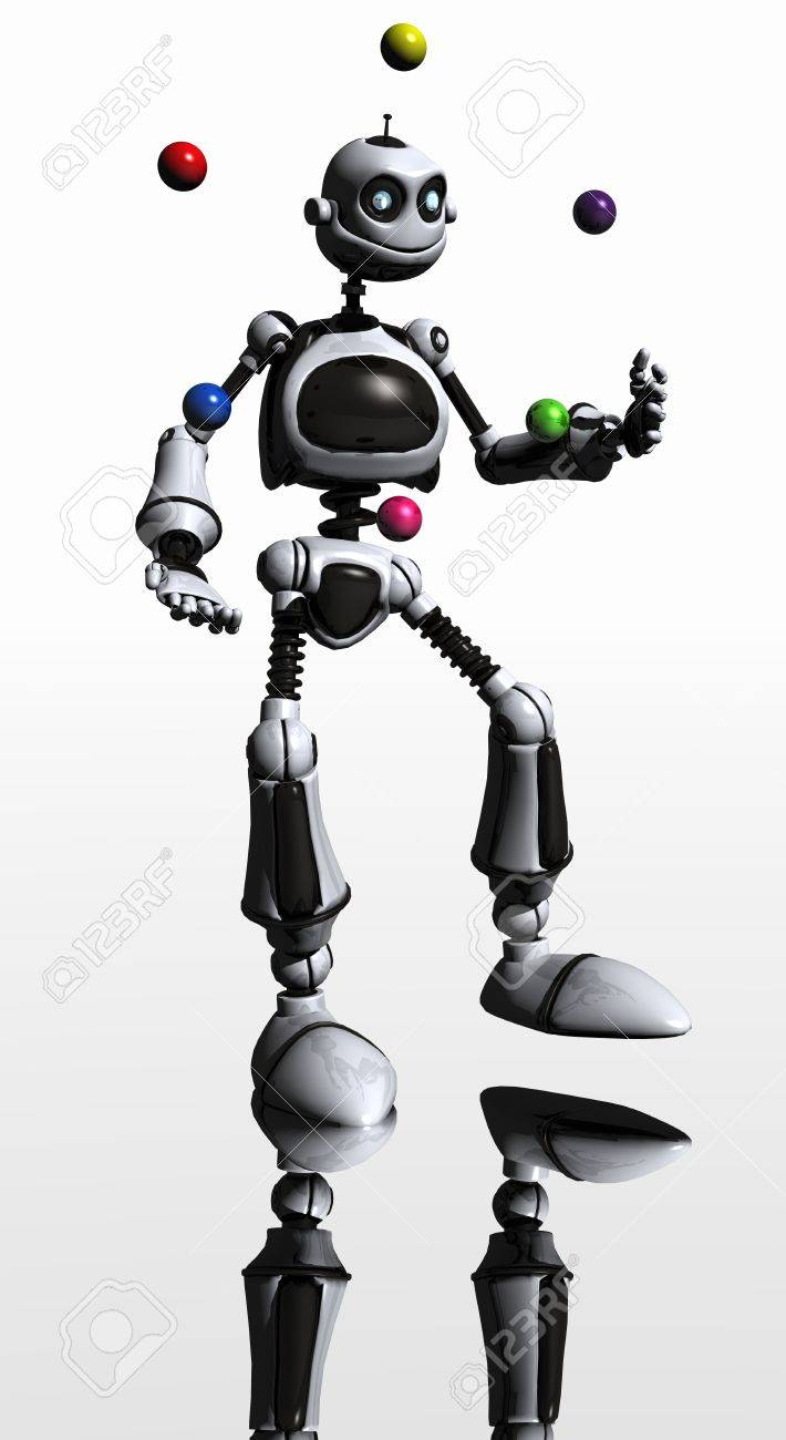 robot juggels Stock Photo - 3778148
